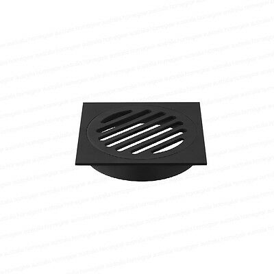 Premium Electroplated | Square Matte Black Floor Waste Grate Drain