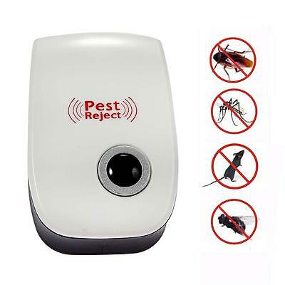 Ultrasonic Electronic Indoor Anti Mosquito Rat Mice Pest Bug Control Repeller L2