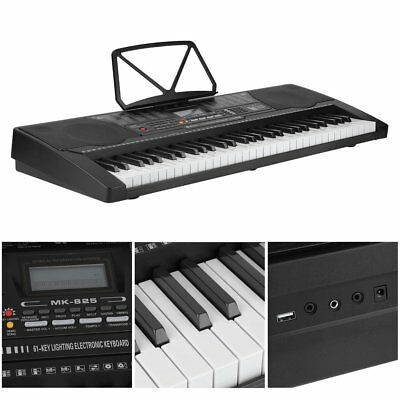 Digital 61 Tasten Keyboard E-Piano Klavier Lernfunktion Set Mit Stativ Ständer !