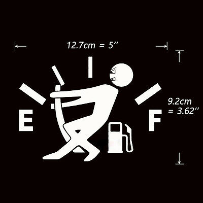 Fashion Fuel Tank Pointer JDM Funny Pull To Full Vinyl Novel Car Sticker Decal