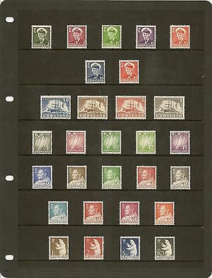 Greenland 1950-2007 Almost Complete Mnh Cat £1400+ (386+25 M/s)