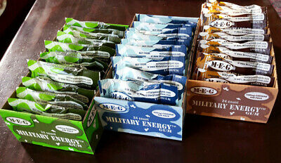 Military Energy Gum - 3 Trays x 24pks 100mg Caffeine Chewing Gum alert Prepper