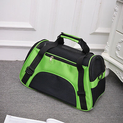 Pet Carrier Soft Sided Small/Large Cat Dog Comfort Bag Travel Approved Handbag