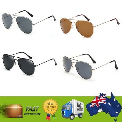 Aviator Sunglasses Mens Womens Tint Lens Designer Sunnies Driving Cockpit New