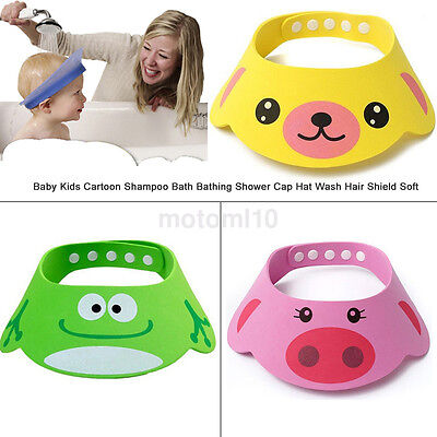 Baby Animal Tearless Bath Shower Shampoo Visor Eye Shield Cap Wash Hair Kids Hot