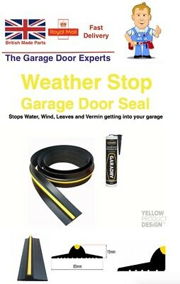 Genuine WEATHER DEFENDER Garage Door Floor Seal Draught Excluder & Adhesive