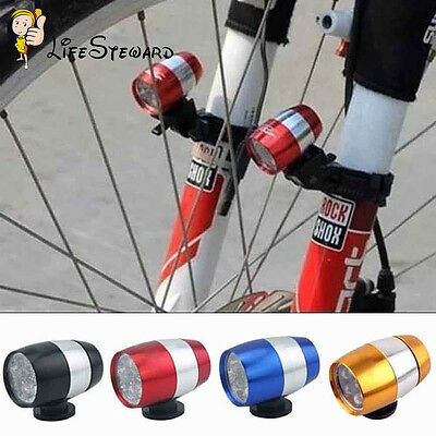 Safety Warning Lamp Mini Cycling Bicycle Bike Front Rear 2 Modes 6 LED Light