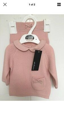 M&S autograph Baby Outfit Bnwt Pink Girl 0-3months