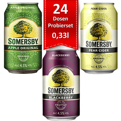 24 Dosen Somersby Apple, Pear & Blackberry Cider im Probierset 0,33l  pfandfrei