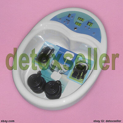 Ion Ionic Detox Foot Bath Spa Aqua Cleanse TUB Acupuncture Pads F Salon Clinic