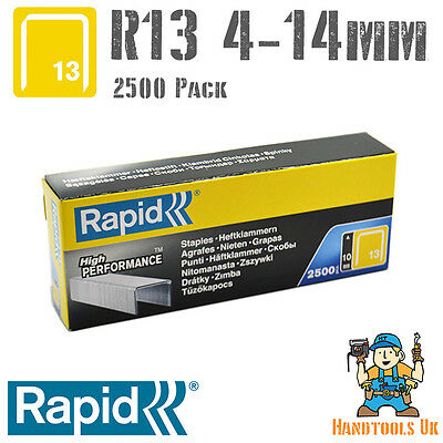 Rapid R13 (13 Series) Staples 4,6,8,10 & 14mm (R13, R23 & R33) 2500 HANDY PACK