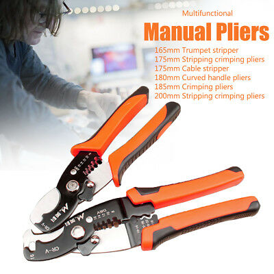 Multifunctional Manual Pliers Cable Stripper Cutter Holder Crimping Clamp Tool