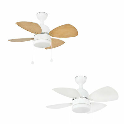 "Modern Ceiling Fan Light FARO MEDITERRANEO White 81.5 cm / 32"" with Pull Cords"