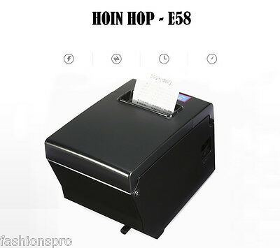 HOIN HOP - E58 58mm 130mm/s High Speed Thermal Receipt Printer for POS System