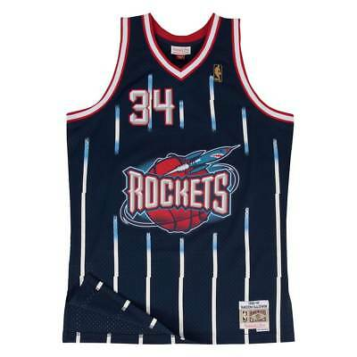Mitchell & Ness Hakeem Olajuwon #34 Houston Rockets 1996-97 Swingman NBA Trikot