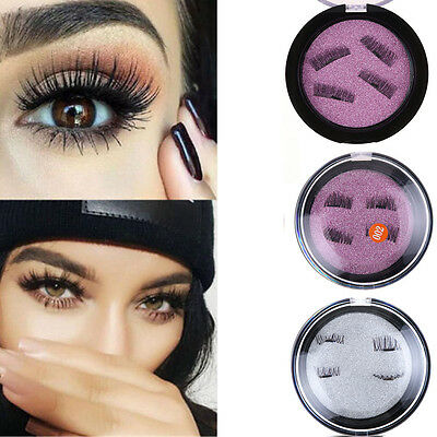 4Pcs/set Magnetic False Eyelashes Natural Eye Lashes Extension No-glue Handmade