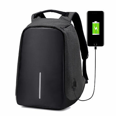 Business Laptop Backpack Travel School Bag Rucksack USB Charging Port Anti-Theft