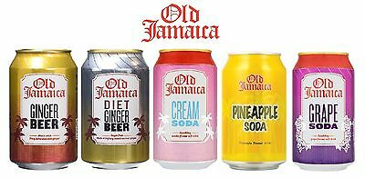 Old Jamaica Soft Drinks Ginger Beer Grape Soda Pine Apple Soda 330ml 24 Cans