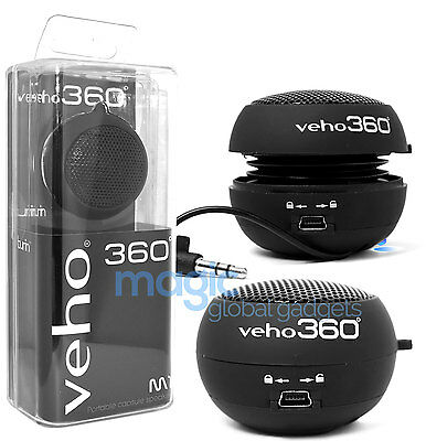 Veho 360 Vss-001-360 Capsule Portable Travel Speaker Ipod Iphone Mp3 Android