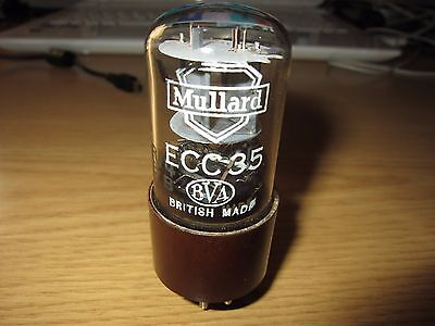 Ecc35 Mullard Tube Fat Brown Base  D-Getter B65 Marconi 6Sl7 1 Pc Ru4 B7B Code