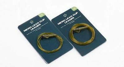 Nash NEW D CAM Leader Carp Fishing Micro Ring Swivel Lead Clip & Tail Rubber