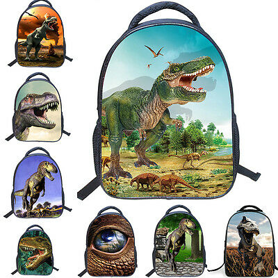 "14"" 3D Dinosaur Boys Kids School Bag Children Rucksack Backpack 36*30*13CM"