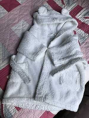 Little White Company Baby Bath Robe 6-12m