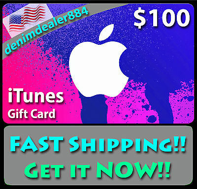 $100 US iTunes Gift Card Voucher Certificate Apple USA USD Super Fast Shipping!