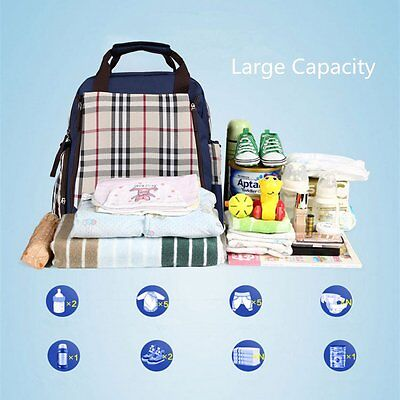 Multifunctional Changing Bag Waterproof Mummy Travel Backpack Baby Diaper Nappy