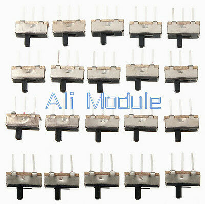20PCS 3 Pin SS12D00G3 2 Position SPDT 1P2T PCB Panel Mini Vertical Slide Switch