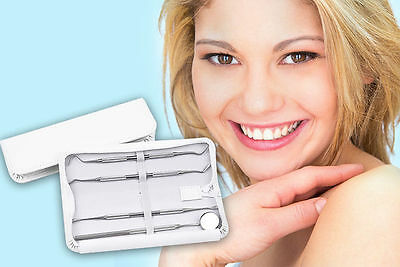 Essential Home Use 4pc Dental Hygiene Oral Care Kit Plaque Remover Tooth Set UK