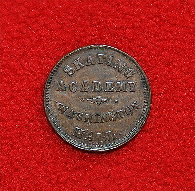 Civil War Token, PA-750F Campbell's Dancing & Skating Academy, Philadelphia