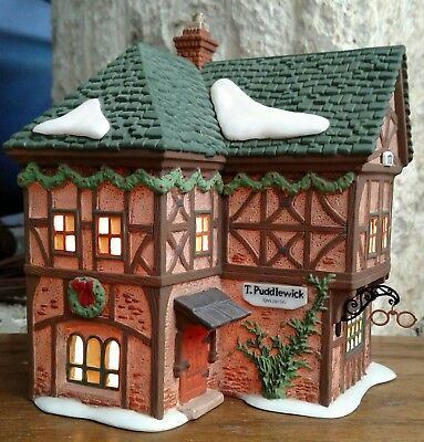 T Puddlewick Spectacle Shop  Department 56 Dickens Village -BUYER GUARANTEE