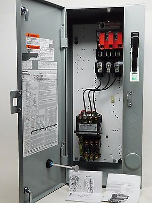 NEW! Siemens Size 1 Fusible Combo Starter 30 Amp 240 VAC CT Coil 110-120-V PO