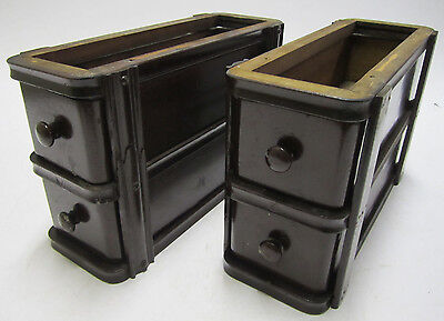 Pair Beautiful Antique Vintage Singer Sewing Machine Wood Treadle Drawers Lot C