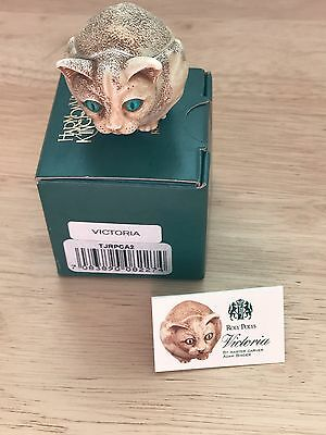 Harmony Kingdom RETIRED Roly Poly VICTORIA the Cat #TJRPCA2 Artist A Binder NIB