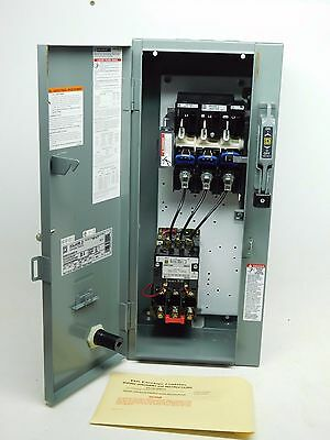 NEW! Square D Disconnect Breaker Enclosure Combo Motor Starter NEMA-1 30A (PO)