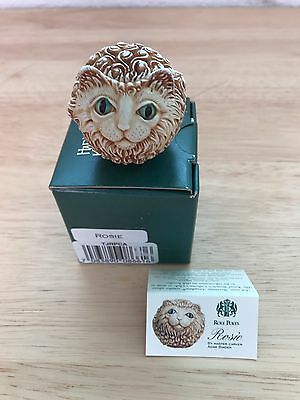 Harmony Kingdom RETIRED Roly Poly ROSIE the Cat Artist Adam Binder NIB