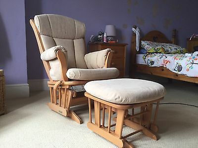 'Dutailier' Gliding Chair And Ottoman