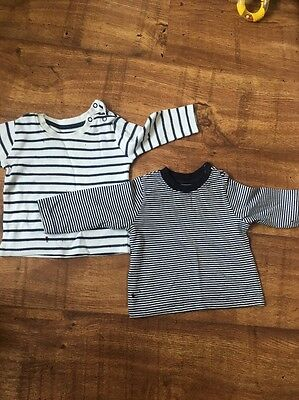 Two Baby Boy Stripy Long Sleeve Tops (3-6 Months)