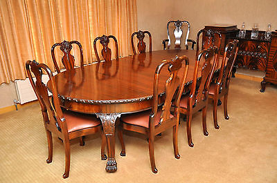 Matching Antique Dining Set. Large Table, 12 Chairs, Serving Table & Side Board