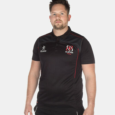 Men's Ulster Rugby Performance Athletic Fit Polo - Black (2017-2018) S44630