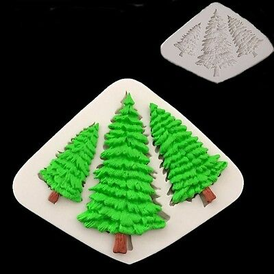3D Christmas Tree Silicone Mold Fondant Cake Decorating Chocolate Baking Mould