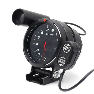 """Car Tachometer Gauge Kit LED 3.5"""" Auto Meter with Shift Light+Stepping Motor RPM"""