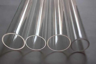 Clear Acrylic tube Perspex Plexi Pipes EXT 25mm to 50mm all lengths pipes Hollow