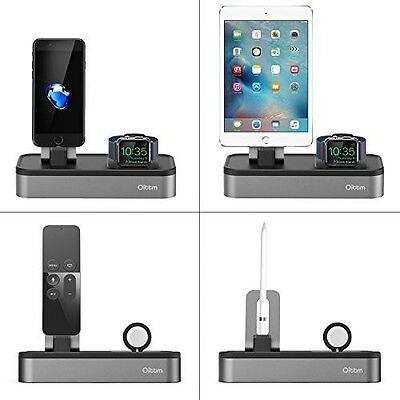 Charging Stand Apple Watch iPhone Charging Station Dock SPACE GREY