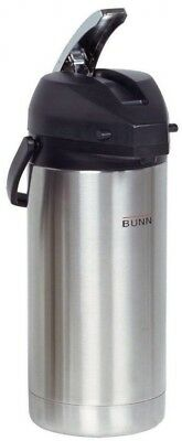 Stainless Steel 3.8 L Urn Airpot Carafe Easy Transport Pump Dispenser Hot Coffee