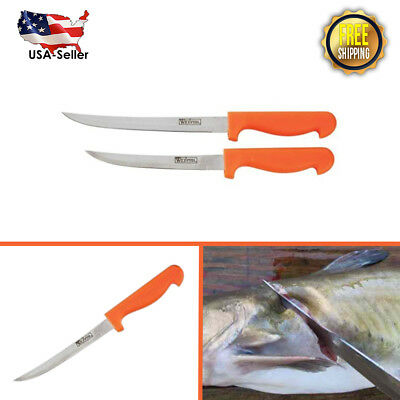 2-pc Meyerco WFF19 Quality Stainless Fish Filet Knife Set for Cleaning, Trimming