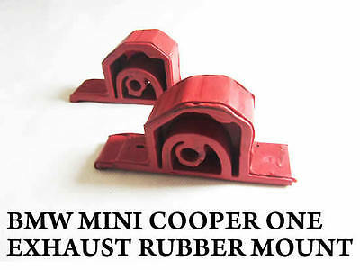 Mini Cooper One Bmw Exhaust Rubber Hanger Mount Silencer Rear Rubbers Clamp New