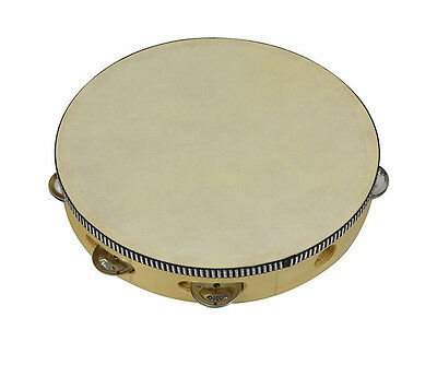 Bryce Tambourine 10 inch with Head- Traditional wood construction